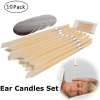 10x Hopi Ear Candling Natural Ear Wax Remover Beeswax Aromatherapy Wax Candles