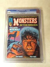 Monsters of the Movies #4 CGC 9.8 NM/MT top graded WEREWOLF WOLF MAN 1974 chaney