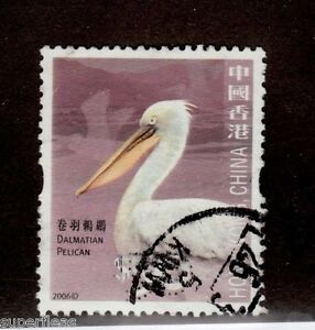 2006 Hong Kong  #1244 Θ used VF $50 Dalmatian Pelican bird stamp
