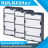 3pk Hapf600 Replacement Hepa+ Filter B for Holmes & Bionaire Hapf600d HRC1