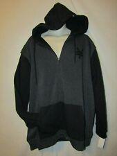 mens zoo york sherpa hoodie jacket LT nwt $80 gray black