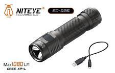 New Jetbeam Niteye EC-R26 Cree XP-L 1080 Lumens USB Charge LED Flashlight Torch
