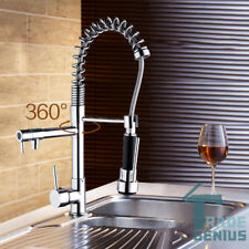 360° Kitchen Swivel Spout Single Handle Sink Faucets Pull Down Sprayer Mixer tap