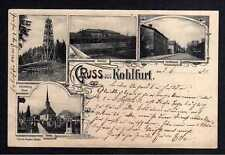 107813 AK Kohlfurt Wegliniec 1903 Könnteberg Turm Bahnhof Kirche Dorfstraße