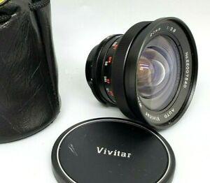 VIVITAR 20mm 3.8 AUTO WIDE ANGLE CAMER LENS Screw Mount M42, Caps PENTAX/YASHICA
