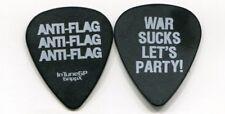 Anti-Flag 2013 General Strike Tour Guitar Pick! Justin Sane custom stage #1