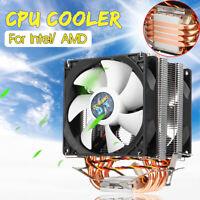 CPU Cooler 2 Cooling Fan Radiator for lntel LGA 775/1151/1155/1156/1366 AMD New