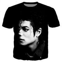 Fashion Star michael jackson 3D Print Casual T-Shirt Women Men Short Sleeve Tops