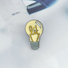 Jewelry Badge Denim Jacket Collar Pin Light Bulb Shape Enamel Brooch Fashion