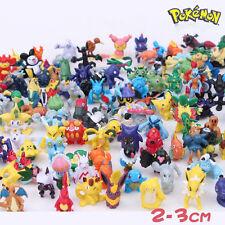 Random 2 PCS Cute Pikachu Pokemon Monster Action Minifigures Collection Toys