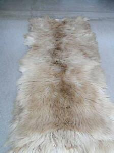 """Goat Antelope Winter Coat Hide Rug 30"""" x 54"""" Thick and Soft"""