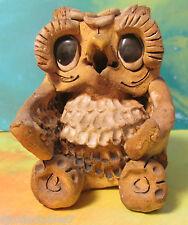 """RaRe Figural Owl Vintage Max Hindt Pottery Incense Burner Signed """"HINDT"""" HTF"""