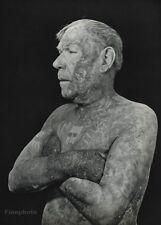 1949 Vintage TATTOO MAN Male Body France Giraud Photo Art ROBERT DOISNEAU 16x20