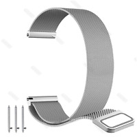 Stainless Steel Metal Mesh Watch Band 18 20 22 24mm Milanese Loop Magnetic Strap