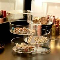Organisateur de maquillage cosmétique clair rotatif de boîte de stockage T2