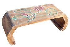 Opiumtisch Beistelltisch Blumentisch Brücke Handarbeit hell Lotos bunt Tisch 15M