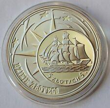 Poland 10 Zlotych, 2005, Sail Ship Gdynia, History of Polish Zloty, Silver COA