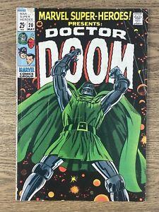 MARVEL SUPER-HEROES #20 (1969) Nice Key! 1st Valeria! Dr. Doom!