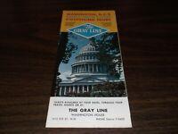 1965 GRAY LINE HOW TO SEE WASHINGTON, DC BROCHURE