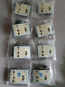 Soldier Mini Figures Lot W/Accessories