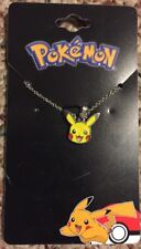 """Pokemon Go Pikachu Pattern 1/2 """" pendant necklace silver tone. 16 Inch Necklace"""
