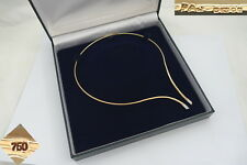 RARE HM 18ct ROSE GOLD COLLAR NECKLACE SET WITH DIAMOND TIPS 23.95g