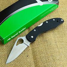 Spyderco Byrd Meadowlark G10 Plain Edge Folding Knife 8Cr13MoV BY04GP2