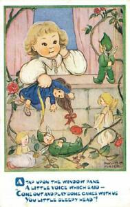Early  Play Some Games With Us  PIXIE FAIRIES  Phyllis Purser Postcard