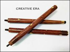 3 Fold Vintage Wood Walking Stick Cane Only For Cane Handle (Only wooden shaft