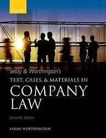 Sealy & Worthington's Text, Cases, and Materials in Company Law by Sarah...