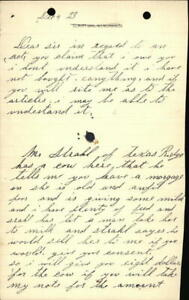 1893 Kendrick Idaho (ID) Letter Theodore Riley
