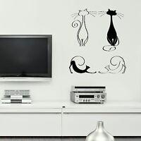 x4 Elegant House Cat Wall Sticker Interior Art Vinyl Large Graphic Transfer CA16