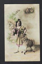 ENFANT & JOUET / MOUTON à ROULETTES en 1912