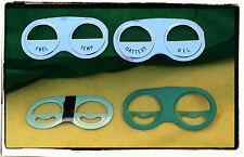 Corvette Gauge Can Name Plates 1959 1960 1961 1962  4PC Battery Oil Fuel Temp