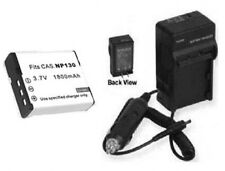 Battery + Charger for Casio EXZR100B EX-H30BK EXH30BK EXH30 EXZR100 EX-ZR100B