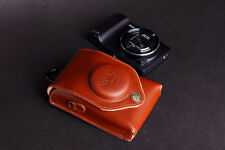 real Leather Neck waist Camera bag Pouch case for Samsung GALAXY EK-GC110/100
