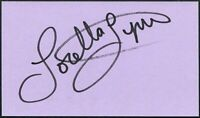 LORETTA LYNN SIGNED 3X5 INDEX CARD COUNTRY MUSIC LEGEND COAL MINER'S DAUGHTER
