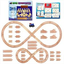 Wooden Train Set Track Wood Accessories Thomas Tank Engine Railroad Locomotive