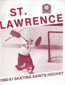 1980-81 St Lawrence Saints Ice Hockey Media Guide HC Mike McShane
