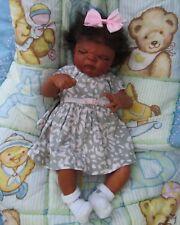 Reborn baby girl doll anatomically correct Realistic biracial Ethnic AA