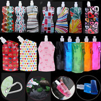 800ML Foldable Water Bottle Outdoor Sports Camping Hiking Running Drinking Bag