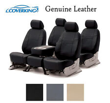 Coverking Custom Seat Covers Genuine Leather Front and Rear Row - 3 Colors