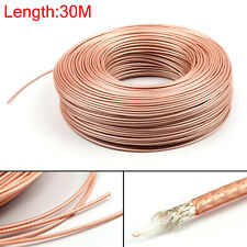 30m RG179 RF Coaxial Cable Connector 75ohm M17/94 RG-179 Coax Pigtail 98ft CA