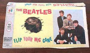 """vtg 1964 BEATLES """"FLIP YOUR WIG"""" MB Board Game - Complete"""
