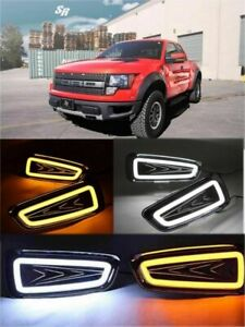 2x LED for Ford Raptor F150 2010-2014 DRL Daytime Running Light Turn Signal Lamp