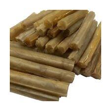 """50 Rawhide Cigar Shape Dog Chews 5"""" x 15mm Treat Dental Sticks Hide Chews NEW"""