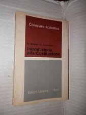 INTRODUZIONE ALLA COSTITUZIONE N Bobbio e F Pierandrei Laterza 1959 politica di