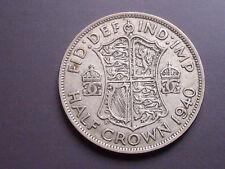 ROYAUME-UNI Georges VI ARGENT 1940 Pièce Monnaie Ancienne, Old Silver Coin WW2