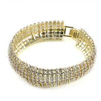 Fashion Women Crystal Rhinestone Cuff Bangle Bracelet Charm Jewelry Fine Gift