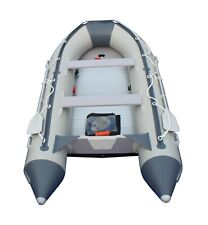 10.8 ft Inflatable Boat Raft Dinghy Pontoon Boat WITH Aluminum FLOOR-Grey